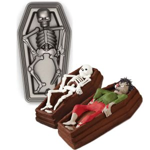 Skeleton in Casket 3-D Pan